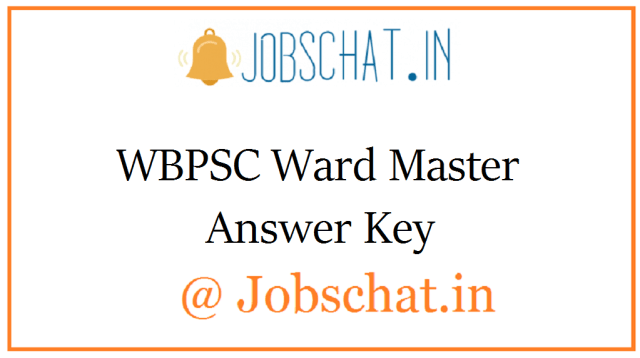 WBPSC वार्ड मास्टर उत्तर कुंजी