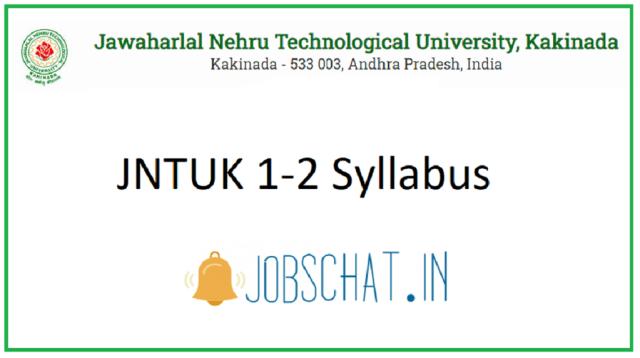 JNTUK 1-2 Syllabus