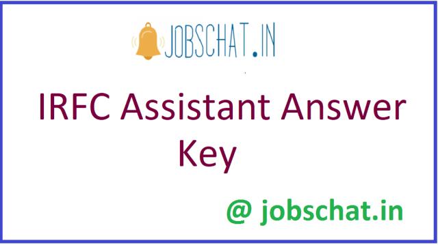 IRFC Assistant Answer Key