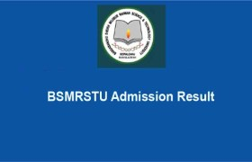 BSMRSTU Admission Test Result 2019