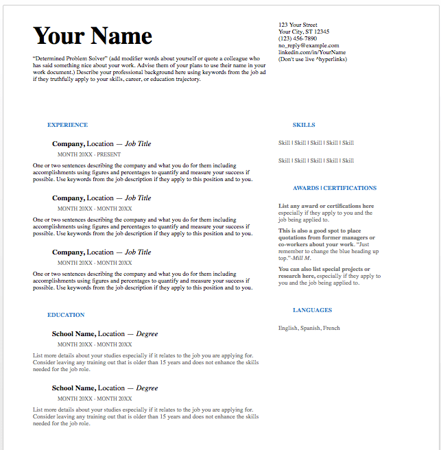 ats resume format example examples of resumes. Black Bedroom Furniture Sets. Home Design Ideas