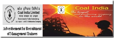 COAL INDIA LIMITED ADVERTISEMENT FOR RECRUITING FOR MANAGEMENT TRAINEES