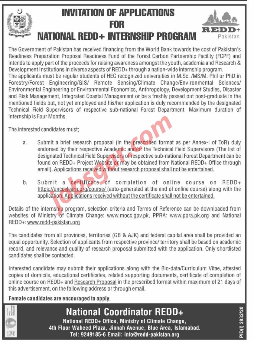National REDD+ Internship Program Pakistan 2020