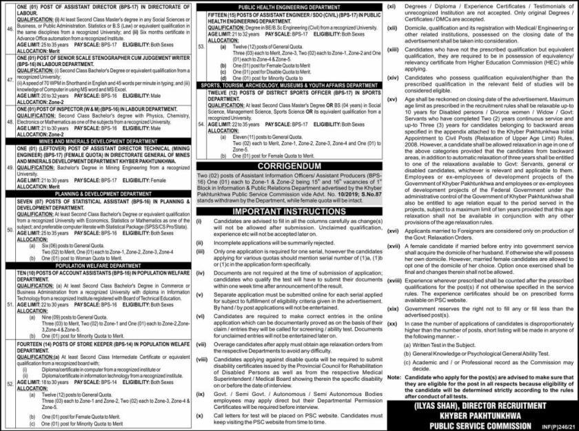 KPPSC Jobs 2021 Khyber Pakhtunkhwa Public Service Commission