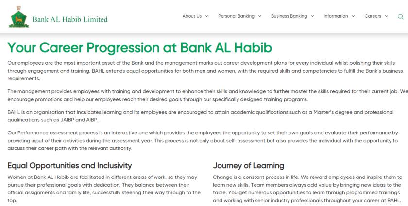 Bank Al Habib Jobs 2021 Apply Online at BAHL