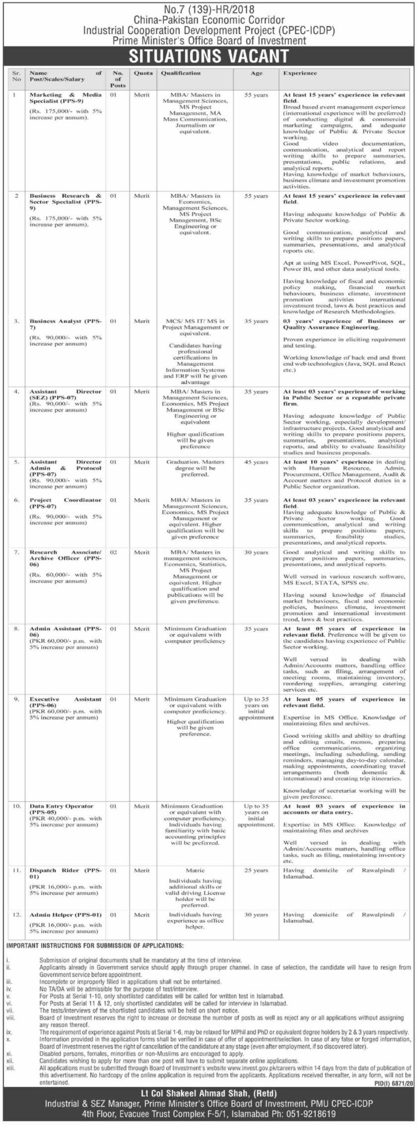 CPEC Jobs 2021 China Pakistan Economic Corridor