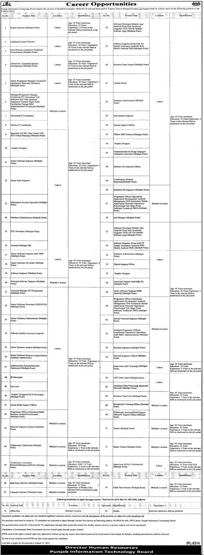 PITB Jobs 2021 Punjab Information Technology Board