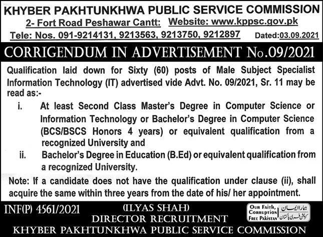 Khyber Pakhtunkhwa Public Service Commission KPPSC Jobs 2021