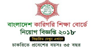 Bangladesh Technical Education Board published a Job Circular