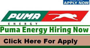 Latest Job Vacancies at Puma Energy