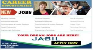 NEW JOB OPENINGS @ JABIL