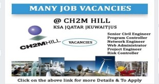 FREE STAFF RECRUITMENT @ CH2M HILL