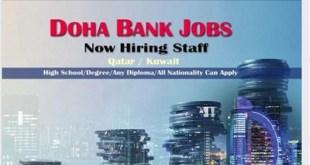 LATEST JOB VACANCIES AT DOHA BANK