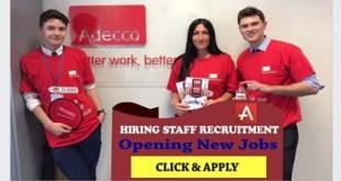 MANY JOB VACANCIES AT ADECCO