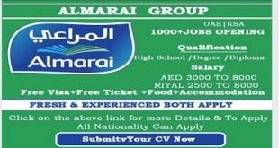 MANY JOB VACANCIES AT ALMARAI GROUP