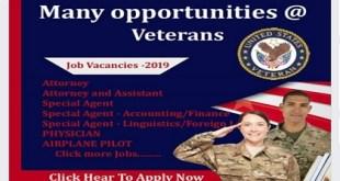 Many opportunities @ Veterans jobs