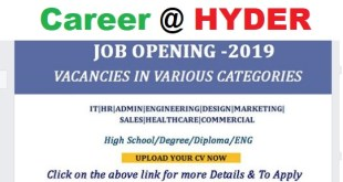 Jobs Vacancies @ HYDER