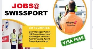 JOB OPENINGS AT SWISSPORT!! SUBMIT CV NOW!!