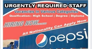 MANY JOB VACANCIES AT PEPSICO