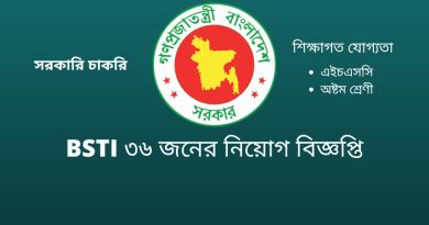 bsti government job circular