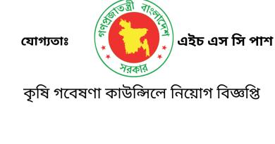 Government Job Circular at Agricultural Research Council