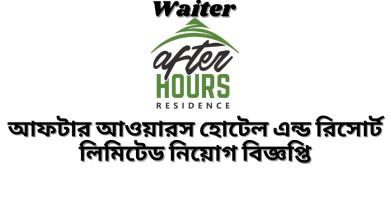 Waiter BD Jobs Circular