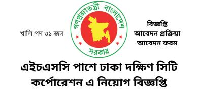 Bd Government Job Circular Dhaka South City Corporation