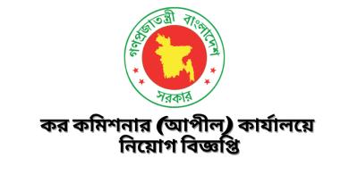 Government Job Circular at Tax appeal zone