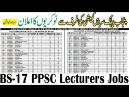 ppsc lecturer jobs 2020 add