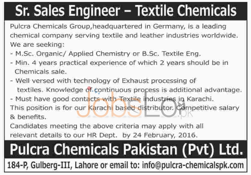 Latest Career Jobs In Sitara Chemical Group - Inspirational Interior