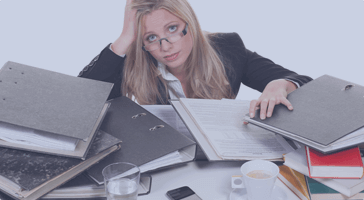 Are you swamped, covered up at work?