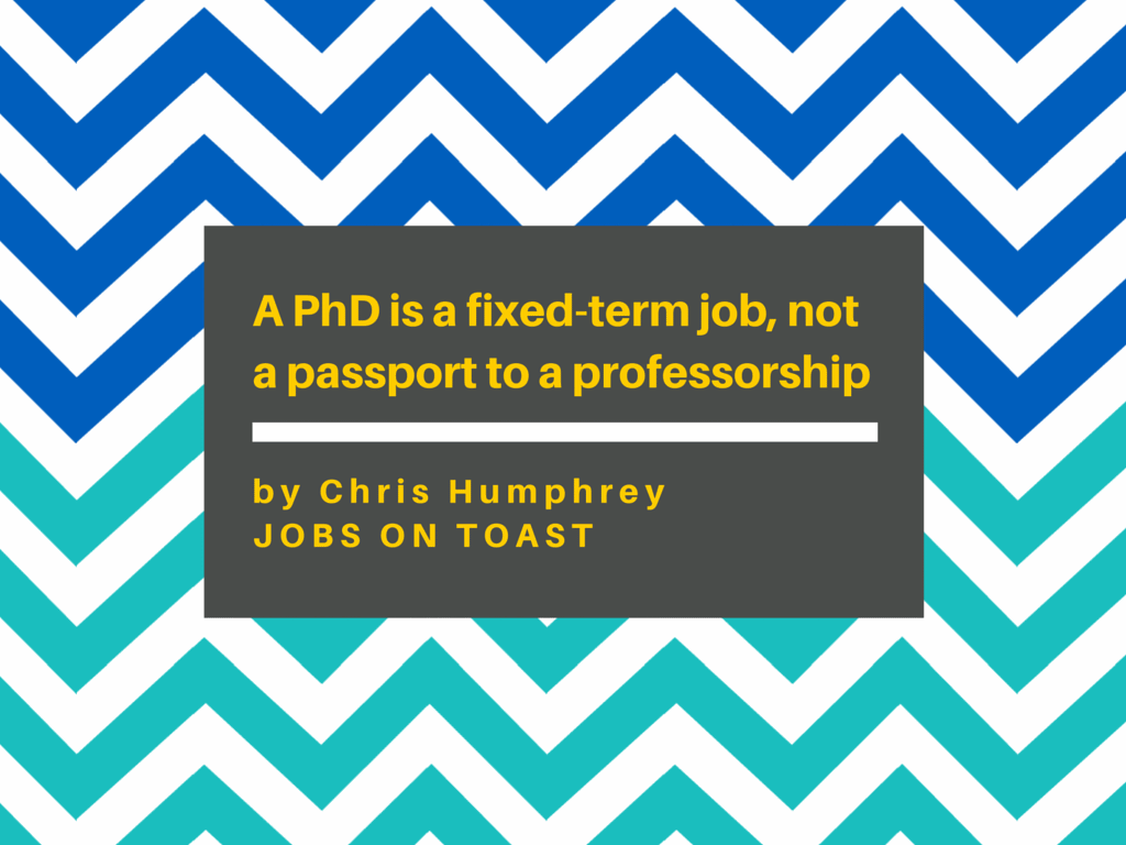 A PhD is a fixed-term job, not a passport to a professorship | Jobs