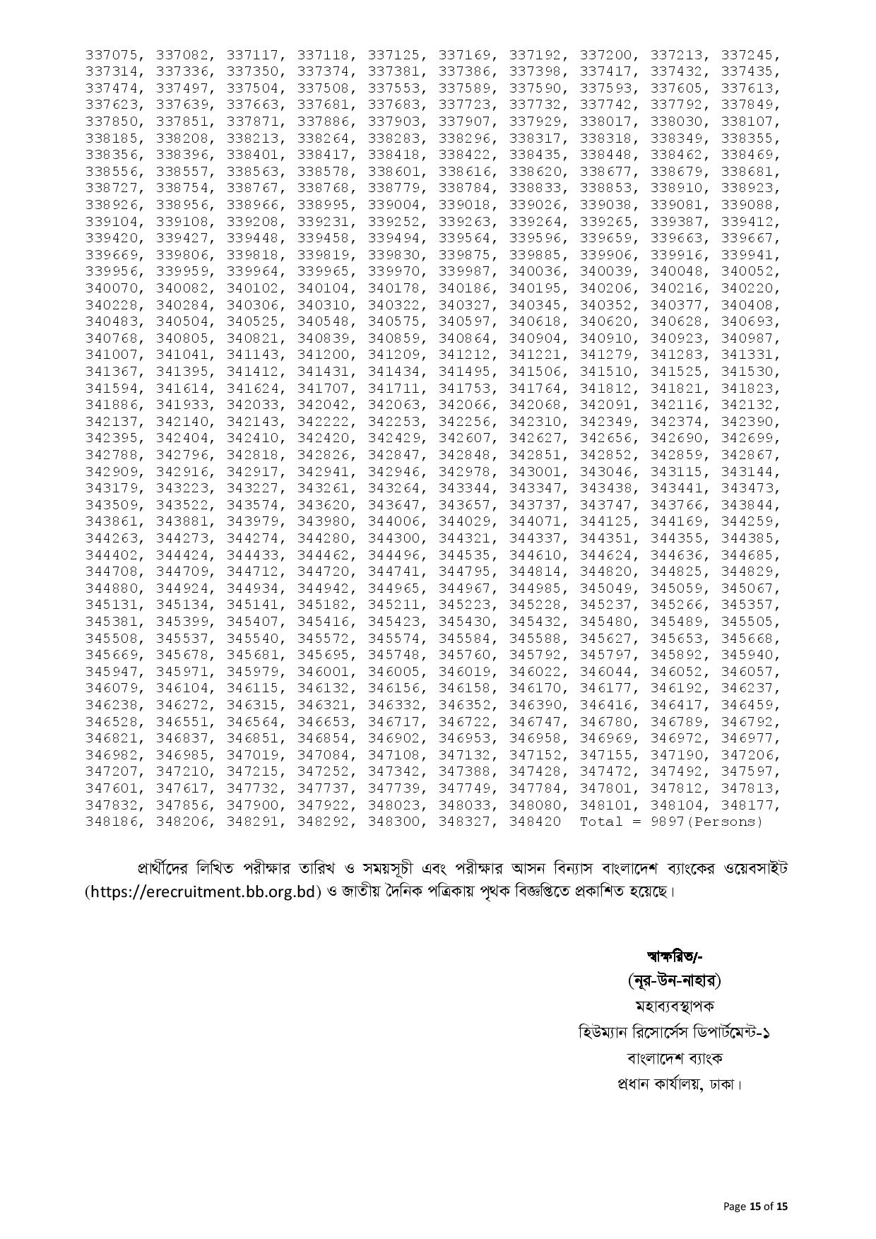Bangladesh Bank (BB) Officer (General) Final Viva Result