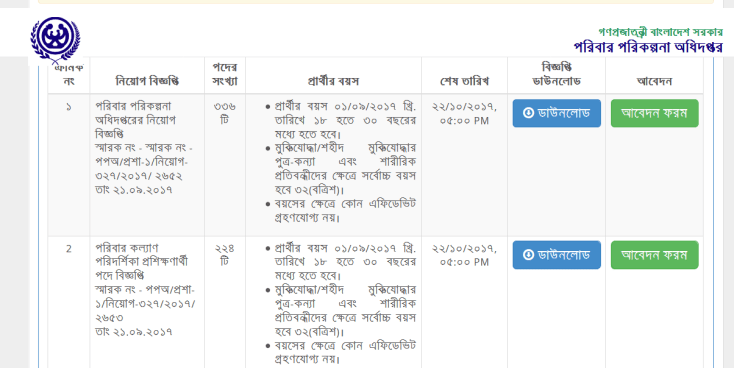 Department of Family Planning Exam Date 2018