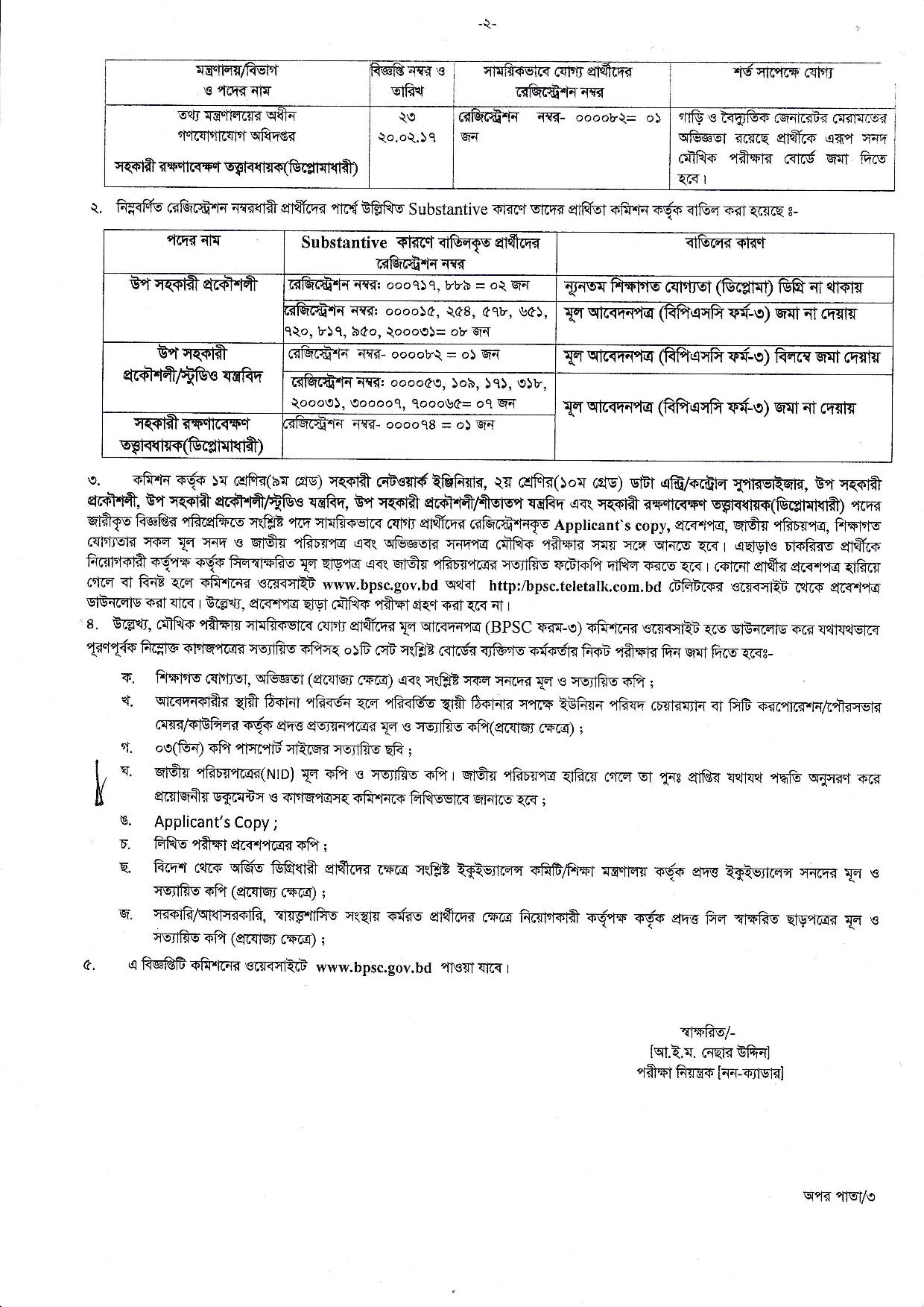 ICT Division Exam Date Admit Card Result 2018 1