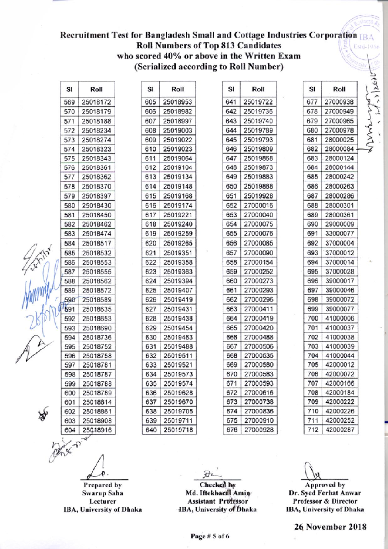 BSCIC Exam Question Solution Result 2019 1