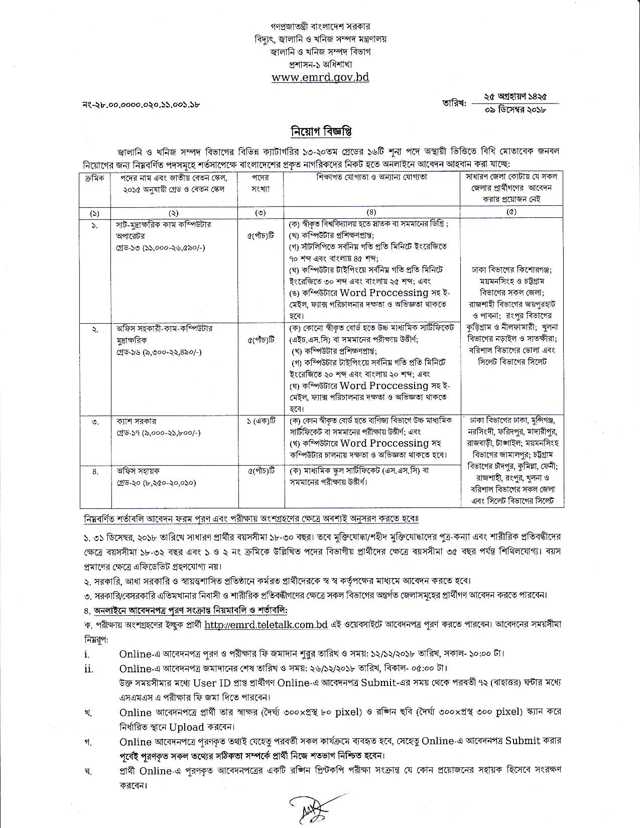 Energy And Mineral Resources Division Exam Result Date Admit 2019 2