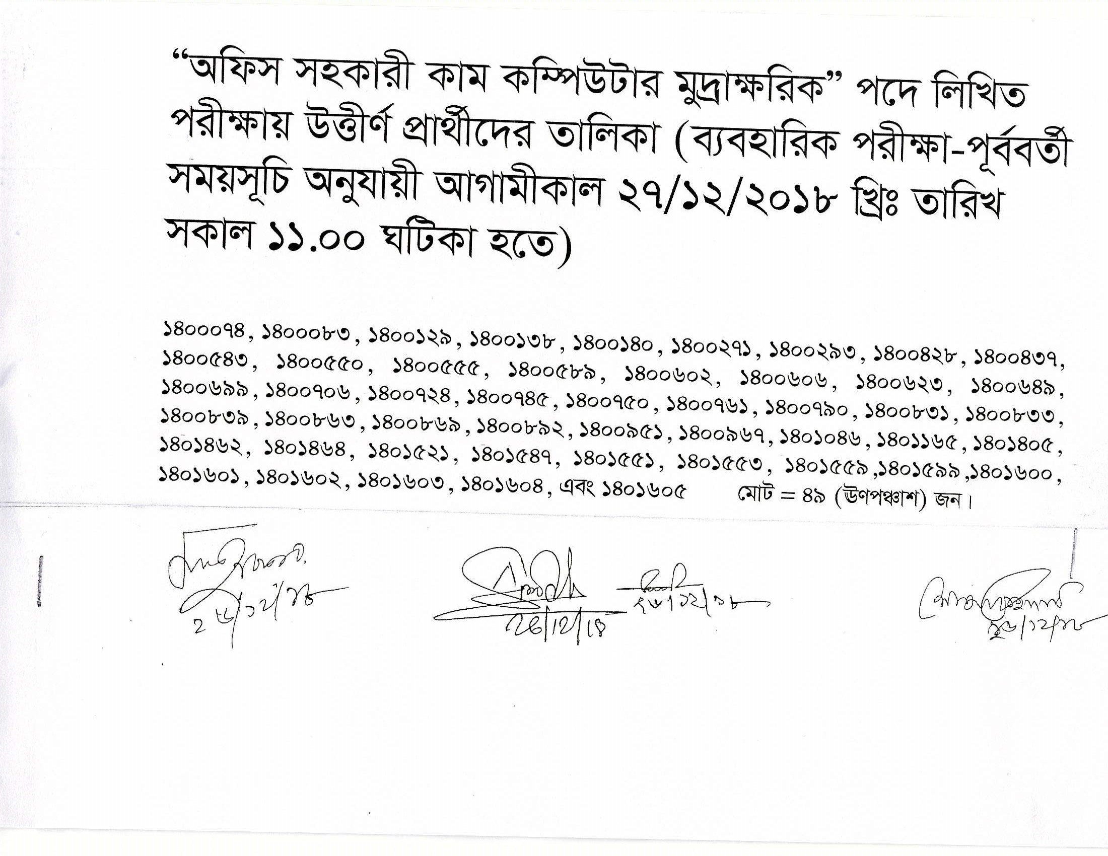 Taxes Zone Gazipur TZG Exam Result Admit Exam Date 2019 3