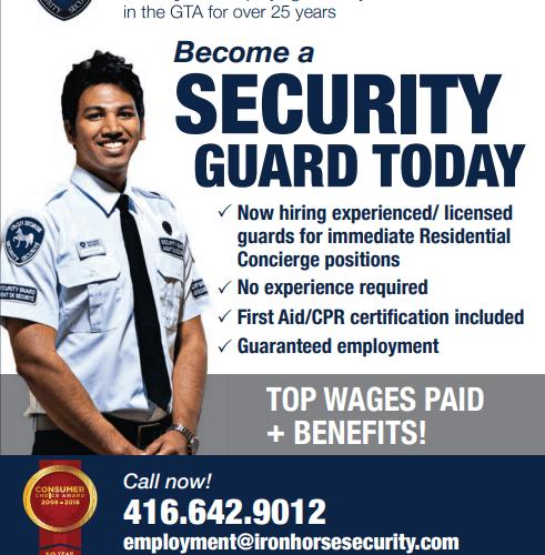 Security guard jobs in Canada