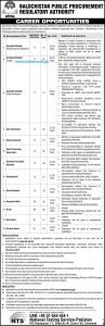 Balochistan Public Procurement Jobs 2016 BPPRA NTS Latest