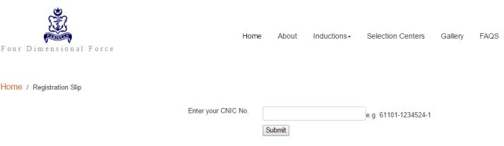 Download Pak Navy Registration Slip