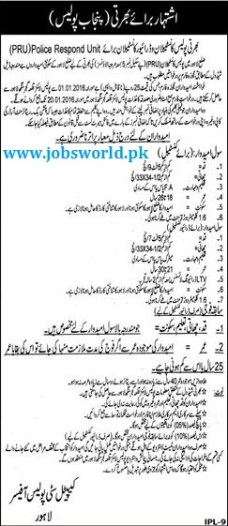 Punjab Police Constable Jobs 2016 Police Respond Unit