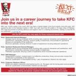 KFC Jobs Opportunity for 2016