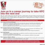 KFC Jobs Opportunity for 2016