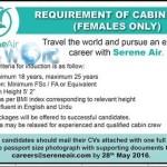 Female Cabin Crew Jobs 2016 In Serene Air Apply Online