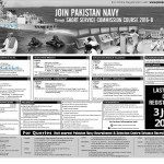 Pakistan Navy Short Service Commission 2016-B Online Registration