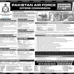 Join Pakistan Air Force 2016 Jobs