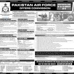 Join Pakistan Air Force 2016 Jobs