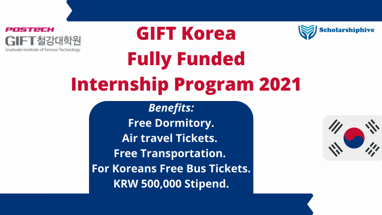 GIFT Korea Internship Program Fully Funded 2021