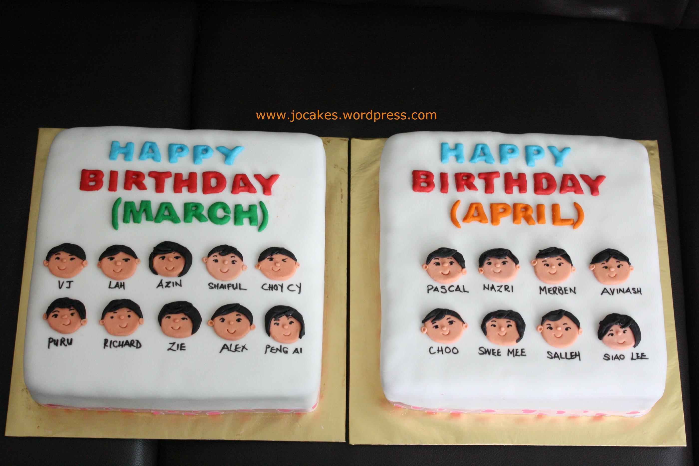 Employees Birthday Cakes Jocakes